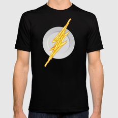 Flash Food Black Mens Fitted Tee SMALL