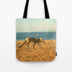 Fox on the beach Tote Bag