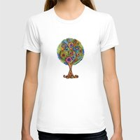 Magical tree Womens Fitted Tee White SMALL