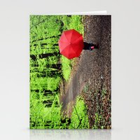 rainy woods Stationery Cards