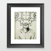 Bike Man Framed Art Print