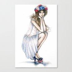 Fourth of July // Fashion Illustration Canvas Print