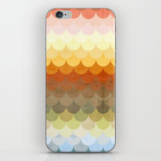Half Circles Waves Color iPhone & iPod Skin