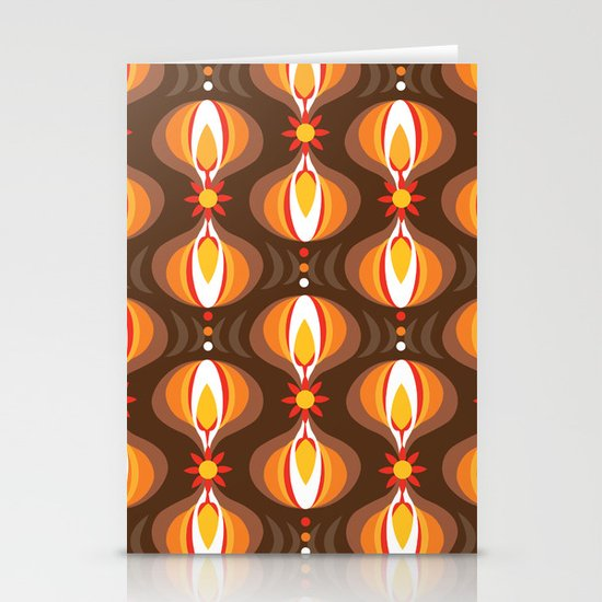 Oohladrop Brown Stationery Card