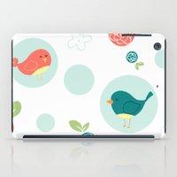 Birds with Polka Dots iPad Case