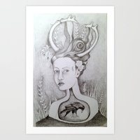 The 25th of 52 Crows Art Print