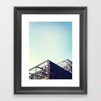 Industrial Pyramids Framed Art Print