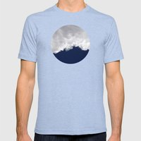 Rumble Blue Mens Fitted Tee Tri-Blue SMALL