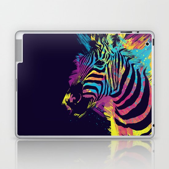 Zebra Splatters Laptop & iPad Skin