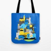 Magic Town - Blue Tote Bag