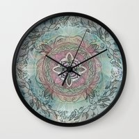 the four directions, a medicine wheel Wall Clock