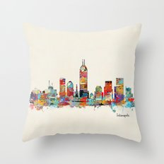 Indianapolis Indiana Sky… Throw Pillow