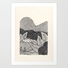 Mini Mountain  Art Print