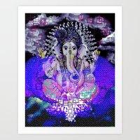 GANESH DREAM Art Print