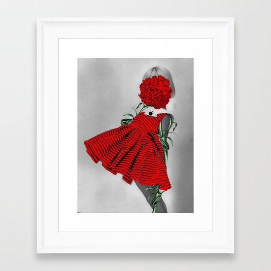 RED CARNATION Framed Art Print