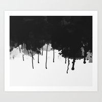 Spilled Ink Art Print