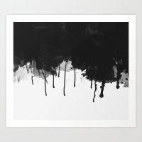 Spilled Ink Art Print