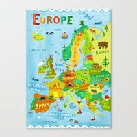 Map Of Europe Canvas Print