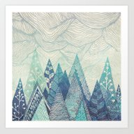 Mountain Crash Art Print