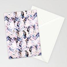 Zebras in bloom Stationery Cards