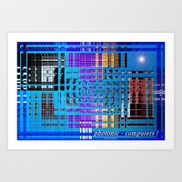 Photonic computers. Art Print