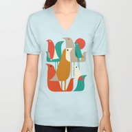 Flock Of Birds Unisex V-Neck