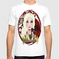 Not A Queen, A KHALEEESI Mens Fitted Tee White SMALL