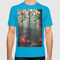 weight of light Mens Fitted Tee Teal SMALL