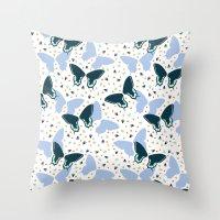 Butterflies one Throw Pillow