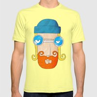 Jack Mens Fitted Tee Lemon SMALL