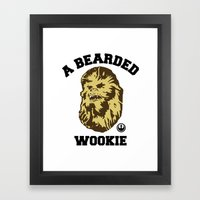 A Bearded Wookie Framed Art Print