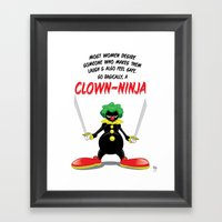 ...So Basically, A Clown… Framed Art Print
