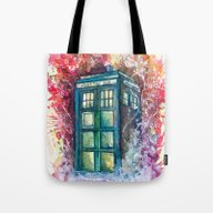 Tote Bag featuring Doctor Who Tardis by Jessi Adrignola