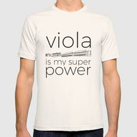 Viola is my super power (white) Mens Fitted Tee Natural SMALL