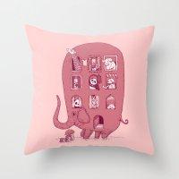Elephant Bus - FatPanda Throw Pillow