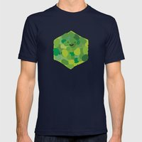 hexagonin Mens Fitted Tee Navy SMALL