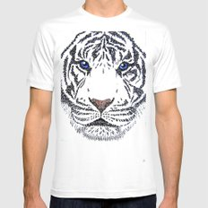 White Tiger Mens Fitted Tee White SMALL