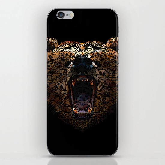 Floral Bear iPhone & iPod Skin