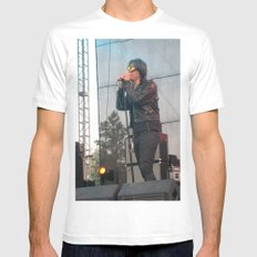 Julian Casablancas of The Strokes White SMALL Mens Fitted Tee