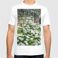 Museum & Wild Flowers - … Mens Fitted Tee White SMALL