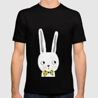 rabbit bow  Mens Fitted Tee Black SMALL