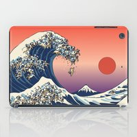 The Great Wave of Pug   iPad Case