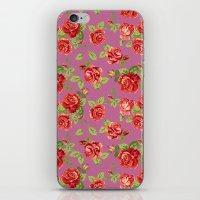 Rose Pattern- Pink iPhone & iPod Skin