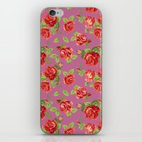 Rose pattern- pink iPhone & iPod Skin