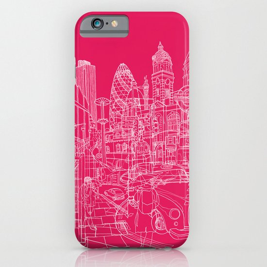 London! Hot Pink iPhone & iPod Case