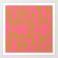Myth Syzer - Neon (Patte… Art Print