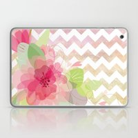Chevron Flowers Laptop & iPad Skin