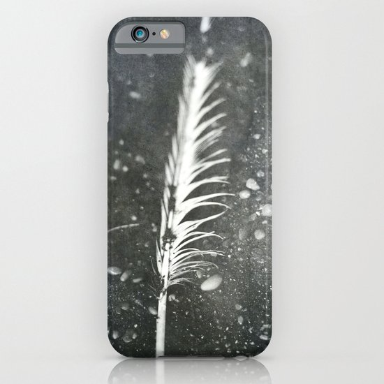 Feather on Black Sand Beach iPhone & iPod Case
