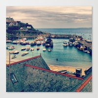 Grey Clouds Above The Fe… Canvas Print
