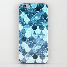 REALLY MERMAID SILVER BLUE iPhone & iPod Skin